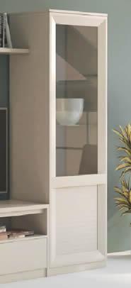 Mueble Vitrina 1 Puerta con Cristal Lacado Mate (Salón Urban 1)