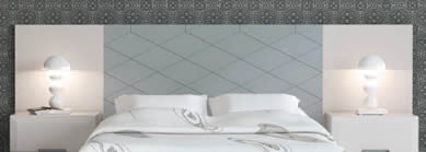 Cabecero Central Panel Fresado Rombos Lacado Mate (Dormitorio Urban 2)