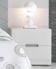 Mesita de Noche 2 Cajones Lacado Mate (Dormitorio Urban 2)