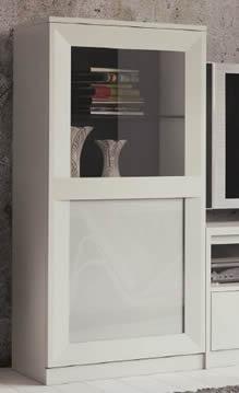 Mueble Vitrina 1 Puerta con Cristal Lacado Mate (Salón Urban 3)