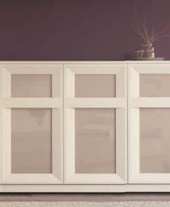Mueble Aparador 3 Puertas con Cristal Lacado Mate (Salón Urban 4)
