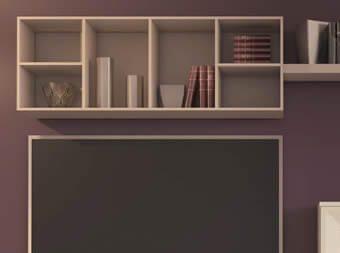 Mueble Librería de Colgar Lacado Mate (Salón Urban 4)