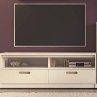 Mueble Tv. 2 Huecos + 2 Cajones Lacado Mate (Salón Urban 4)