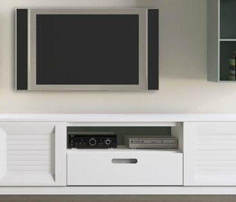 Mueble Tv. 2 Puertas + Cajón + Hueco Lacado Mate (Salón Urban 5)